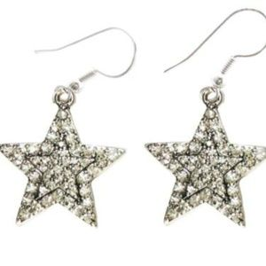 Star Crystal Rhinestone Fashion Hook Wire Earrings